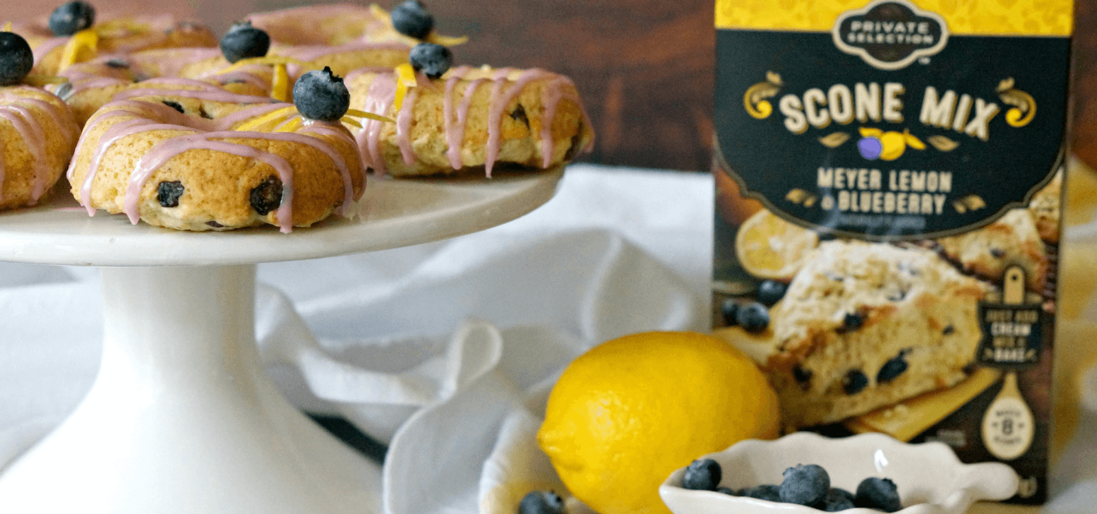 Lemon Blueberry Sconuts