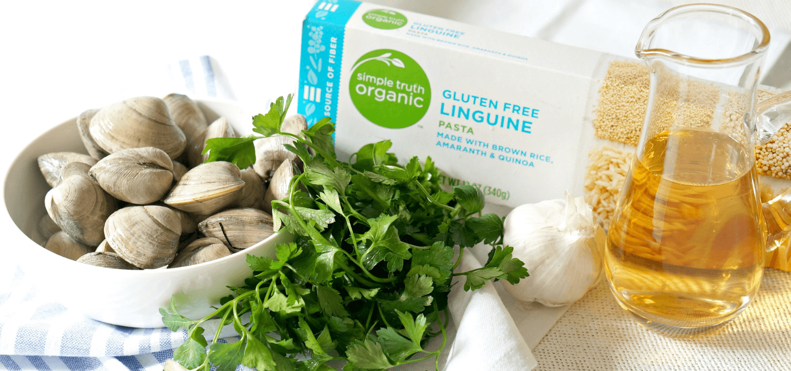 Gluten-Free Linguine with Clams Ingredients