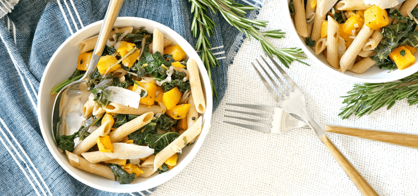 Vegan Butternut Squash and Kale Pasta Recipe