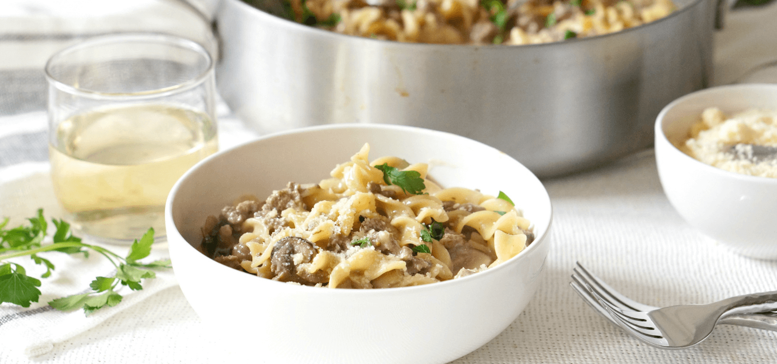 One Pot Beef and Mushroom Stroganoff Recipe